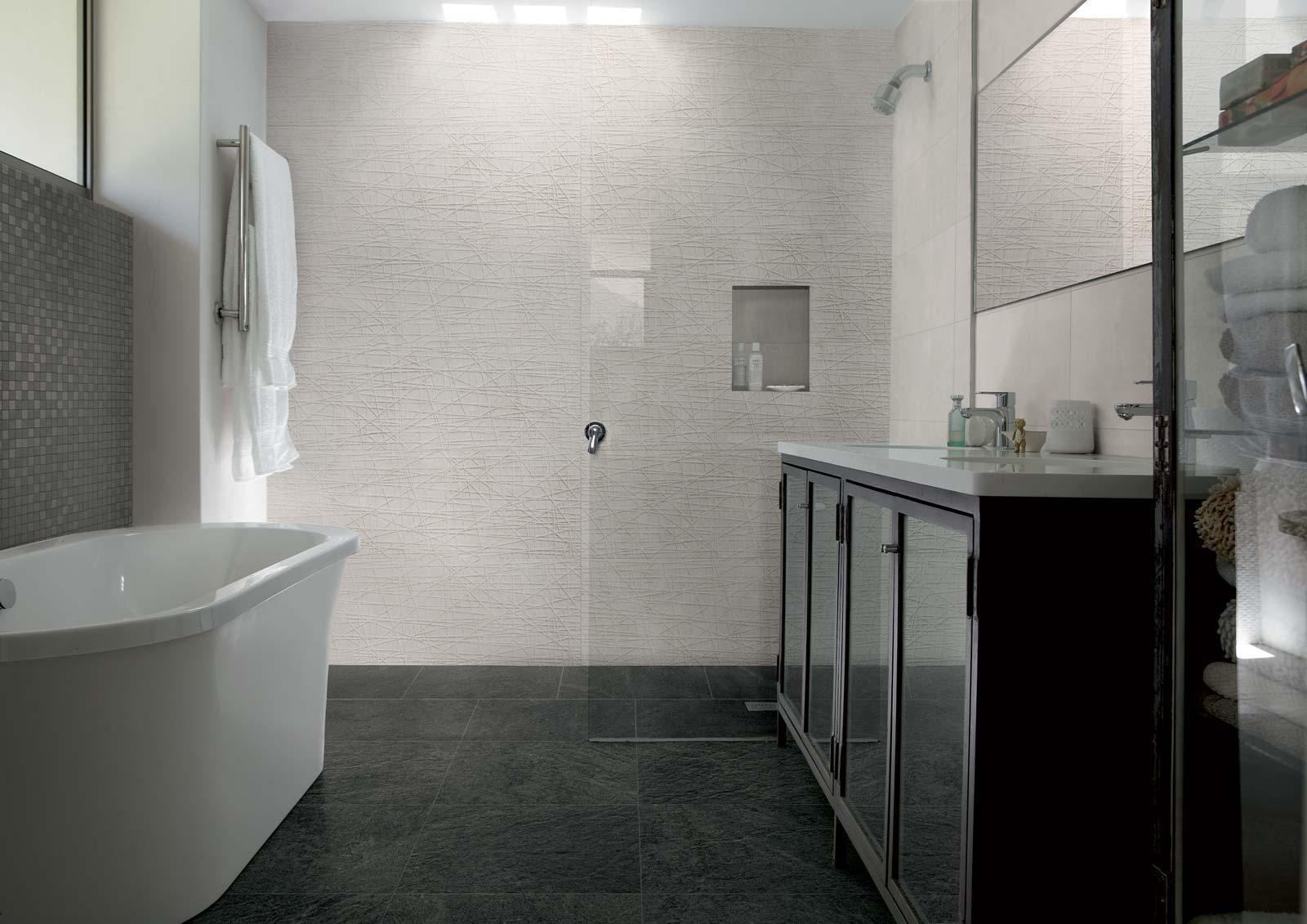 Idee rivestimento bagno: fresco & fabric by marazzi u2013 garbi