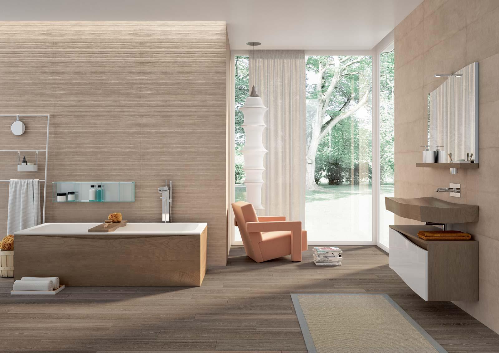 Colore Fughe Piastrelle Beige idee rivestimento bagno: fresco & fabric by marazzi – garbi