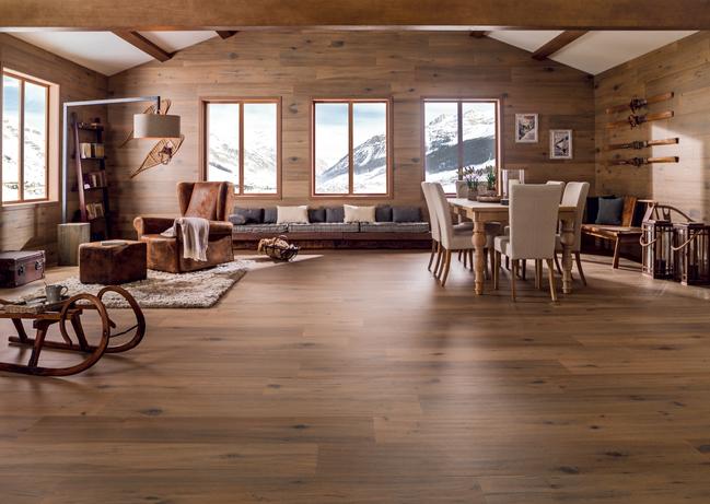 Idee rivestimento per zona living u garbi pavimenti ceramiche