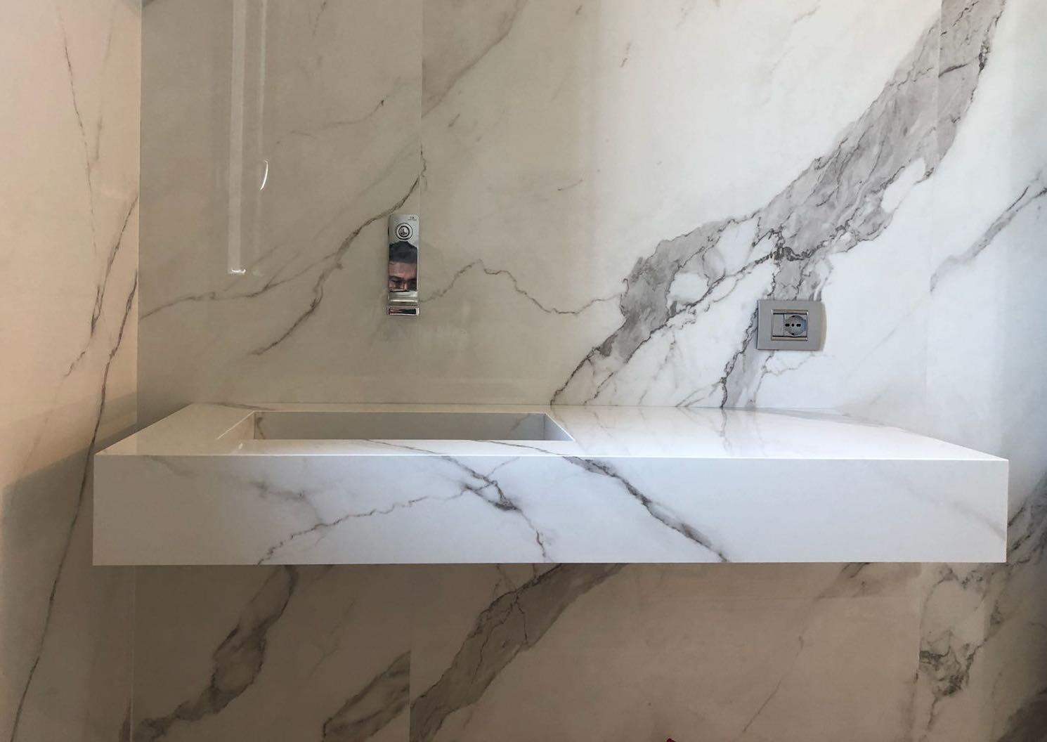 Come si realizza un lavabo su misura in gres porcellanato u garbi